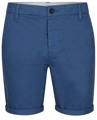Topman Mens Blue Stretch Skinny Chino Shorts