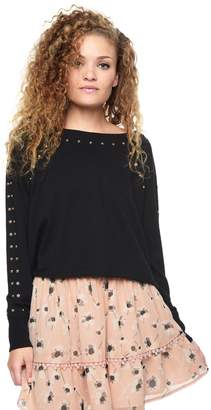Juicy Couture French Terry Stud Embroidery Pullover