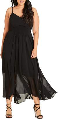 City Chic Smocked Waist Maxi Dress