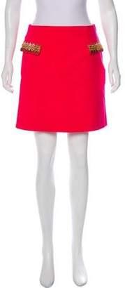 Mary Katrantzou Embellished Mini Skirt