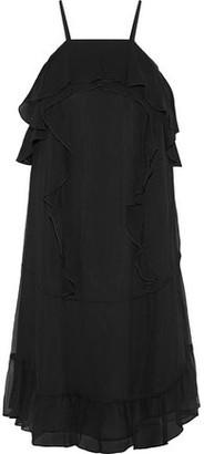 Rachel Zoe Colby Ruffle-Trimmed Silk-Georgette Mini Dress