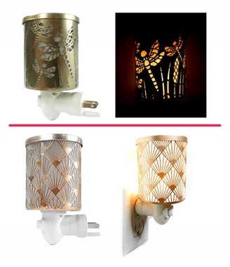 Dragon Optical K-Cliffs 1Pc Brown Fly & 1Pc Rose Gold Peacock Plug-in Fragrance Warmers Diffusers for Scented Wax Cubes & Essential Oils, Set of 2