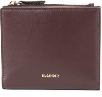 Jil Sander Dark Purple Small Leather Snap Wallet