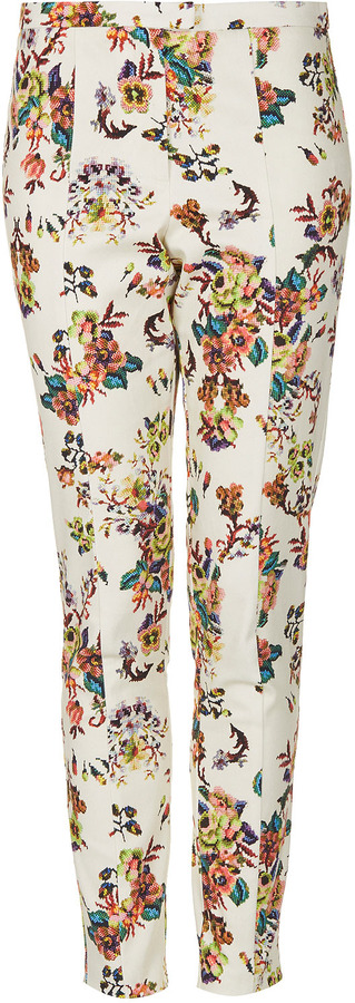 Topshop Pixelated Highwaist Trousers