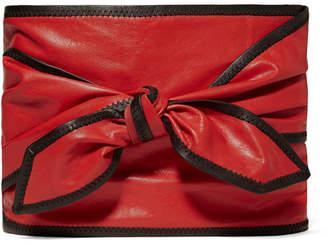 Philosophy di Lorenzo Serafini Two-tone Leather Waist Belt - Red