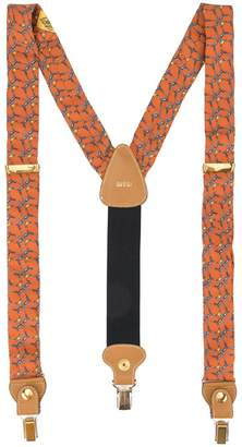 Gucci PRE-OWNED abstract print suspenders