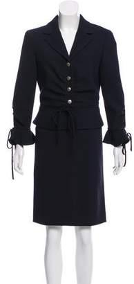 Valentino Virgin Wool Knee-Length Skirt Suit