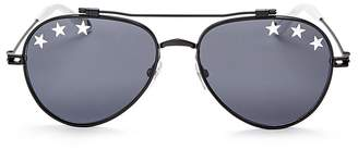 Givenchy Embellished Aviator Sunglasses, 58mm