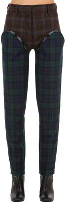 Y/Project Patchwork Wool Plaid Pants