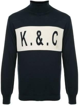 Kent & Curwen logo turtleneck sweater