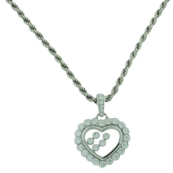 ChopardChopard 18K White Gold Diamond Hearts Necklace