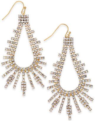 Thalia Sodi Silver-Tone Pave Drop Earrings
