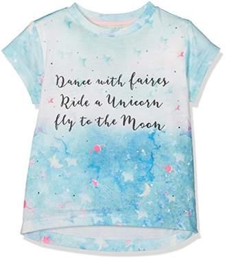 Yumi Girl's Galaxy Slogan T-Shirt, (Light Green)