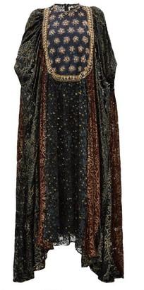 Biyan Ismarella Crystal Embellished Devore Velvet Gown - Womens - Black