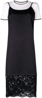 DKNY lace trim shift dress