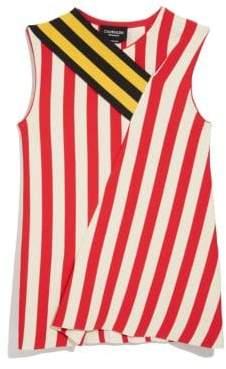 Calvin Klein Sleeveless Striped Flag Top