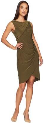 Adrianna Papell Matte Jersey Gathered Sheath Dress Women's Dress