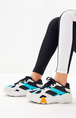 Reebok x Gigi Hadid White & Black Aztrek Double Sneakers