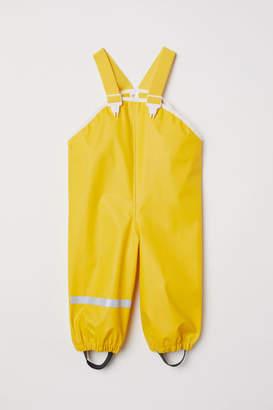 H&M Rain Pants with Suspenders - Yellow