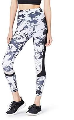 Active Wear Activewear Women's Color Block Mesh Panel Sports Leggings, 8 (Manufacturer size: X-Small)