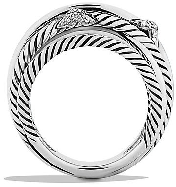 David Yurman Three X Crossover Ring with Diamonds
