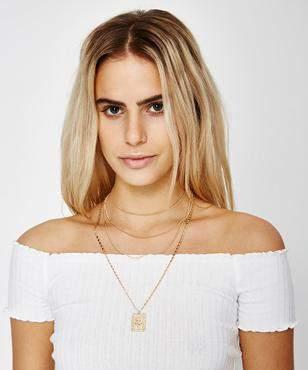Neon Hart Rose Pendant Necklace