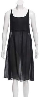 Kristensen Du Nord Silk Sheer Midi Dress w/ Tags