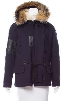 Yigal Azrouel Fur-Trimmed Wool Jacket