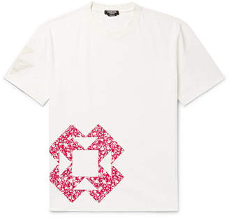 Calvin Klein Patchwork Appliquéd Cotton-Jersey T-Shirt