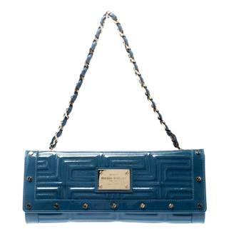 Gianni Versace Blue Patent leather Clutch bags