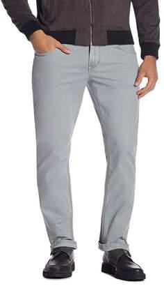 Hudson Blake Straight Slim Fit Jeans in Steel Blue
