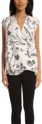 3.1 Phillip Lim Floral Print Soft Draped Sleeveless Blouse