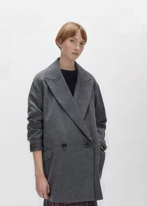 Zucca Wool Flannel Blazer Charcoal Gray