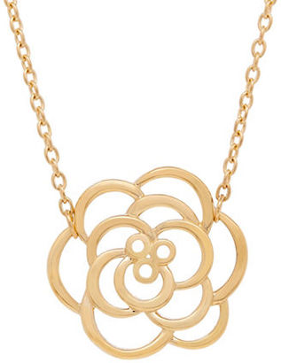 Lord & Taylor 14K Yellow-Gold Flower Pendant Necklace $660 thestylecure.com