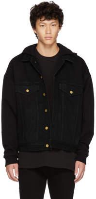 Fear Of God Black Hooded Trucker Jacket