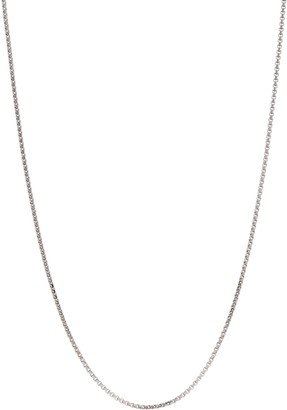 "Italian Gold Round Box Chain 16"" Necklace 14K Gold 2.8g"