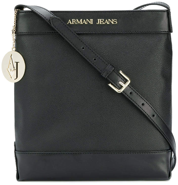 Armani Jeans logo stamp cross-body bag