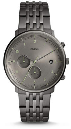 Fossil Chase Timer Chronograph Smoke Stainless Steel Watch
