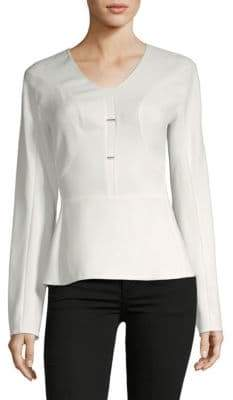 Narciso Rodriguez Roundneck Twill Top