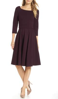 Harper Rose Pleated Waist Fit & Flare Dress