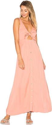 Mara Hoffman Tie Front Midi Dress in Peach $325 thestylecure.com