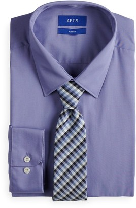 Apt. 9 Men's Slim-Fit Dress Shirt & Tie Set