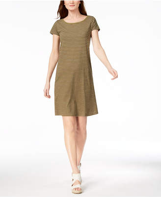 Eileen Fisher Organic Cotton Striped T-Shirt Dress, Created for Macy's