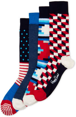 Happy Socks 4-Pack Optic Sock Gift Box