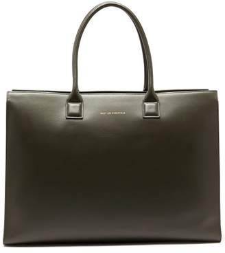 WANT Les Essentiels Dresden Leather Tote Bag - Mens - Grey