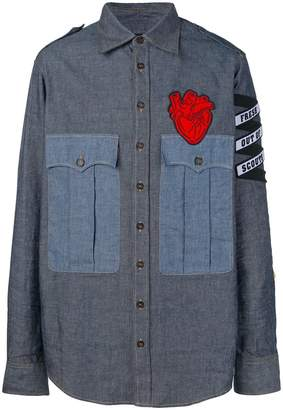 DSQUARED2 appliqué denim shirt
