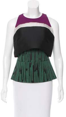 Antonio Berardi Sleeveless Jacquard Top