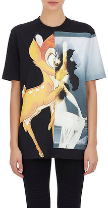Givenchy Women's Bambi & Female-Form Oversized T-Shirt-BLACK $1,190 thestylecure.com