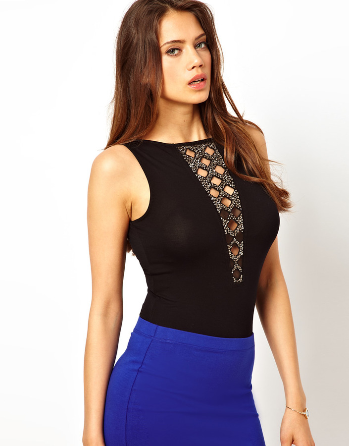 Lipsy Body with Embellished Neckline
