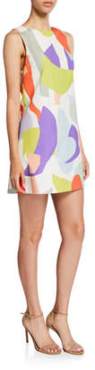 Alice + Olivia Clyde Geo-Print Shift Dress